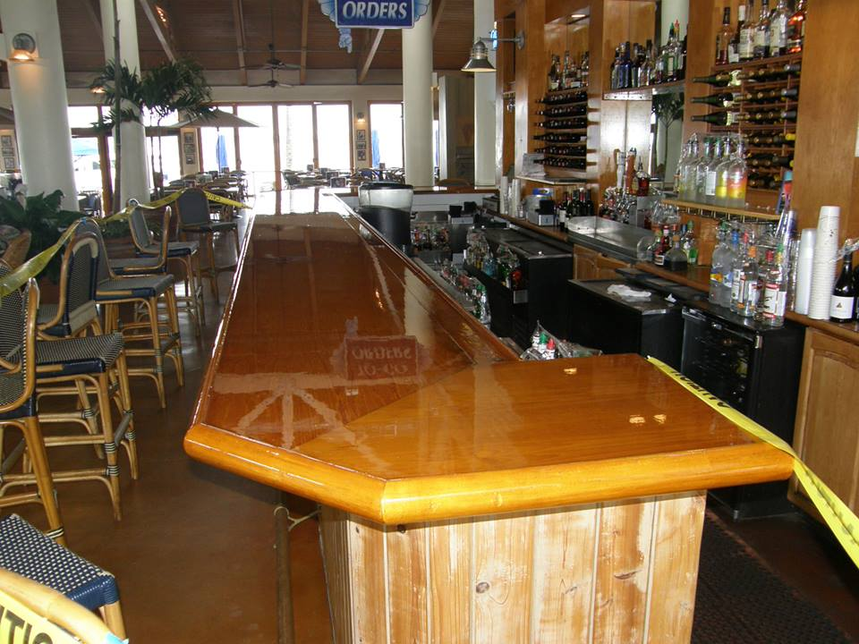 Palm beach florida brightwork specialists bar top varnish for What to use for a bar top