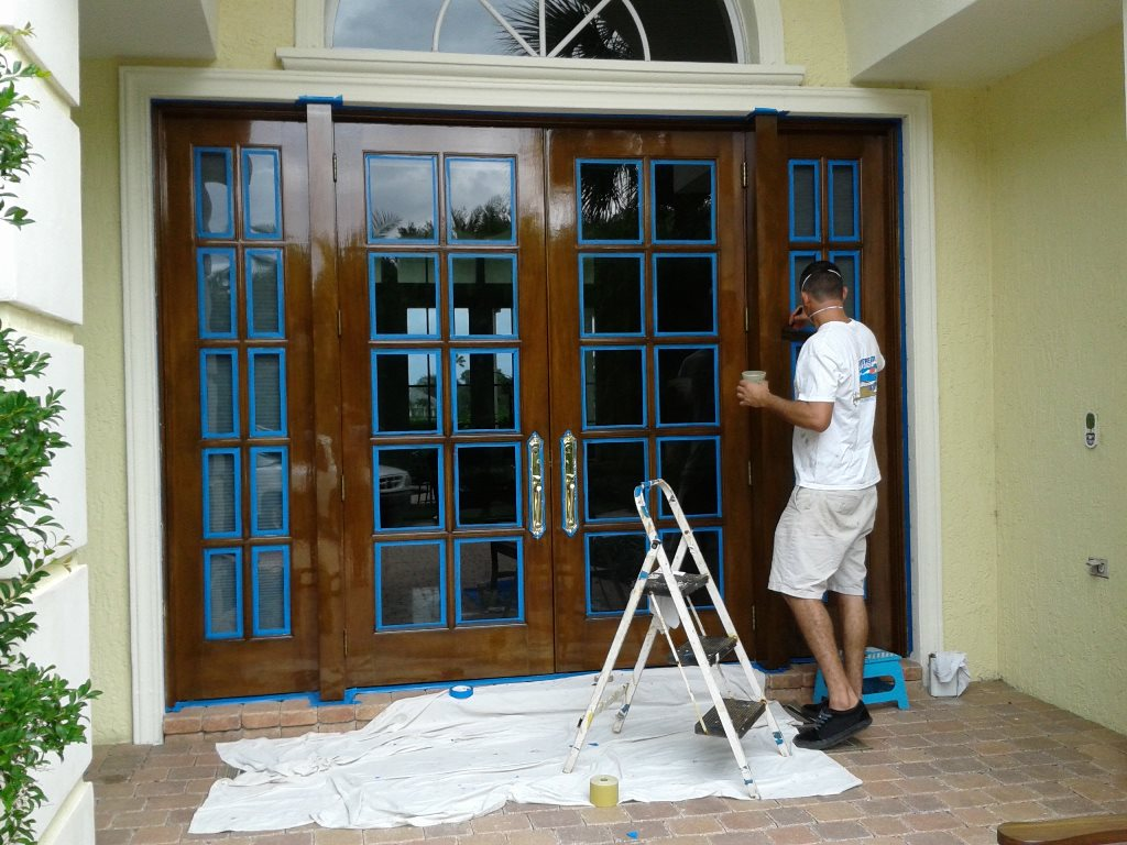 Marine quality varnished doors and entry ways
