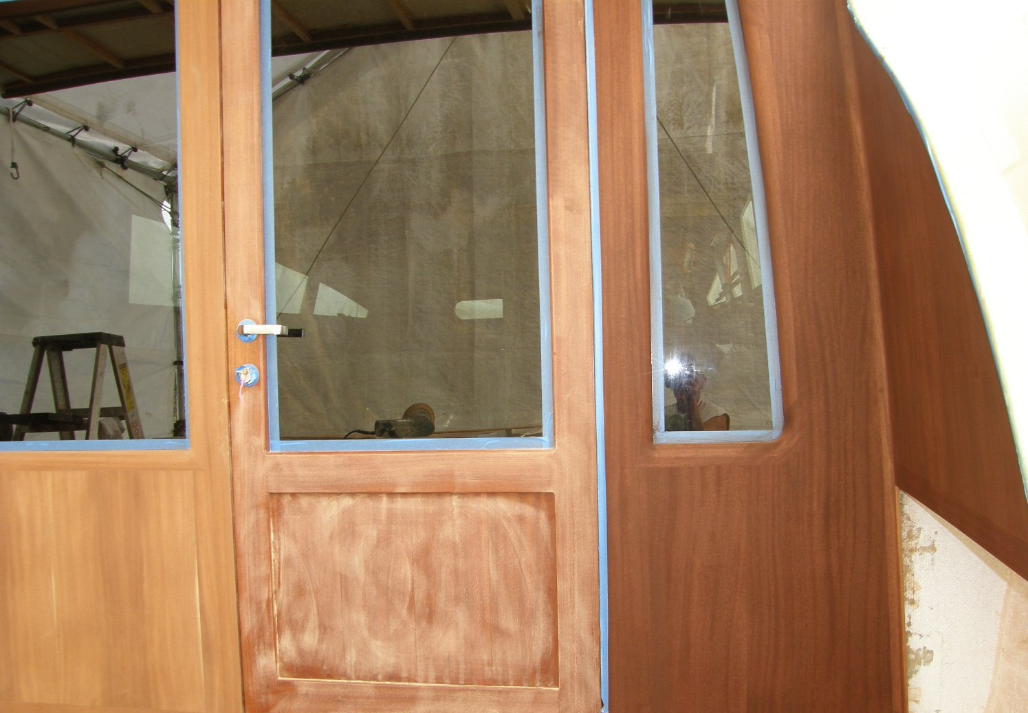 Quality varnished doors and entry ways