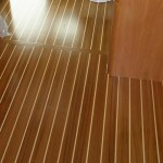 Cabin Sole Varnish on a Sabre Yacht